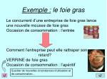 exemple le foie gras