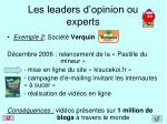 les leaders d opinion ou experts1
