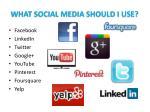 what social media should i use