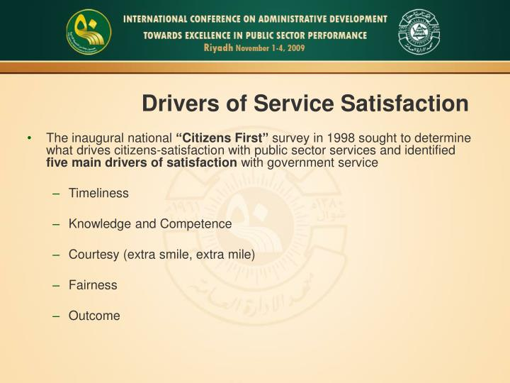 Drivers of Service Satisfaction