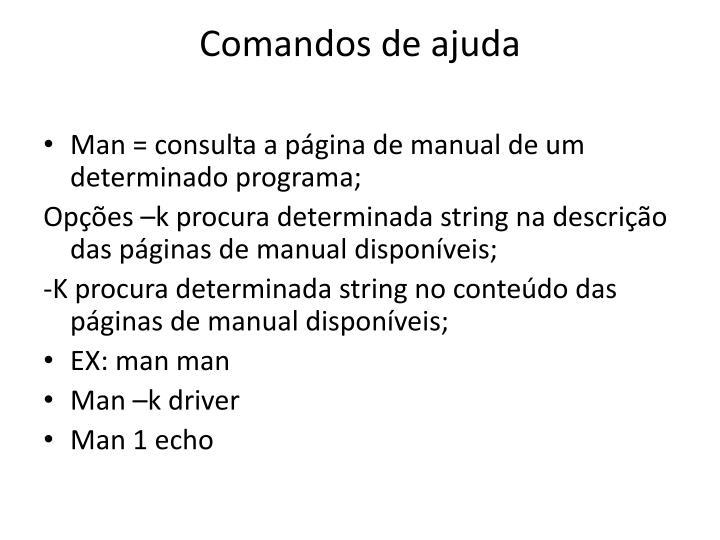 Comandos de ajuda