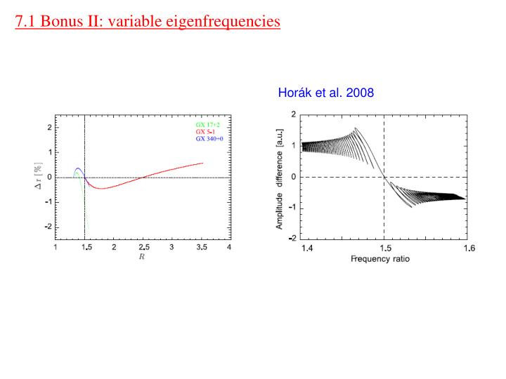 7.1 Bonus II: variable eigenfrequencies
