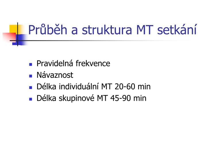 Průběh a struktura MT setkání