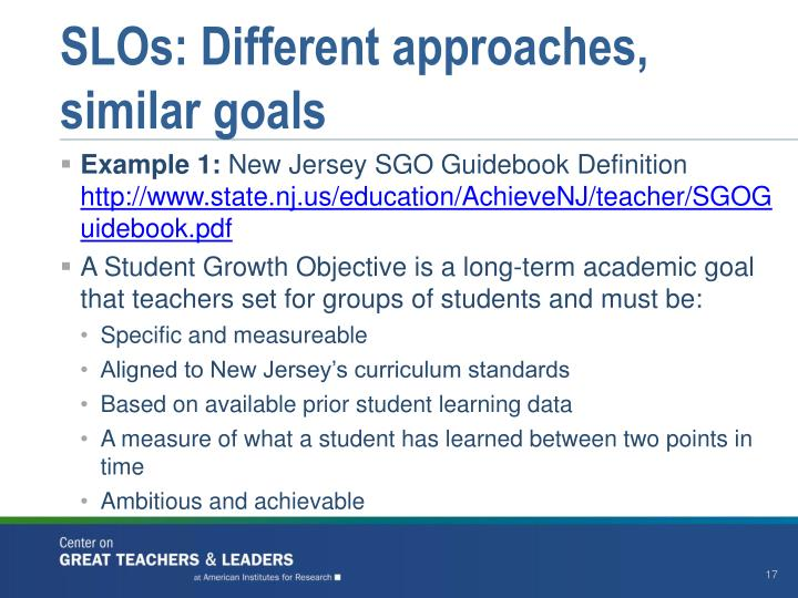 SLOs: Different approaches, similar goals