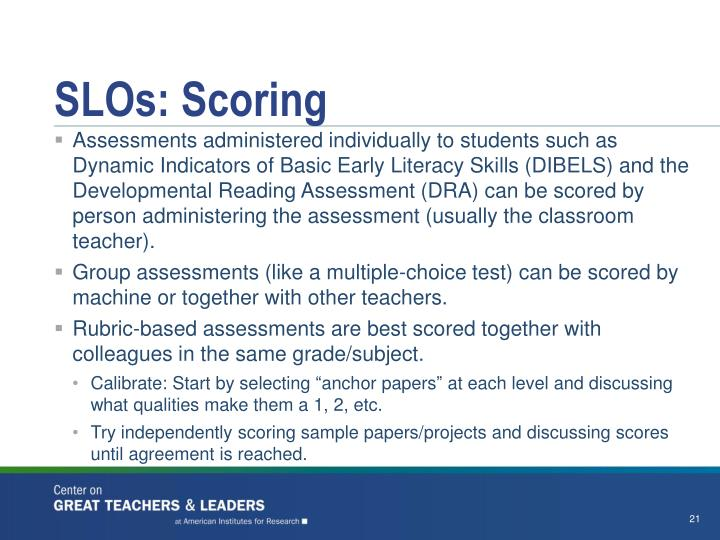 SLOs: Scoring