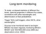long term monitoring