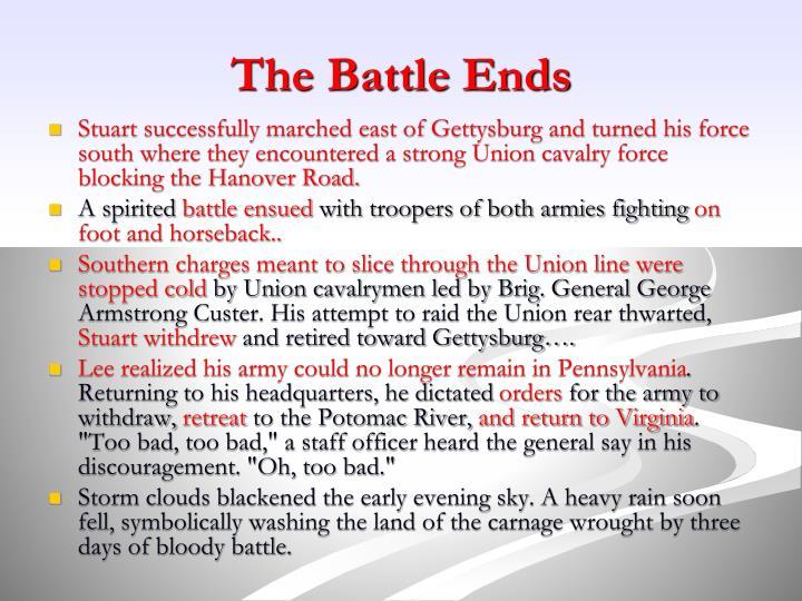 The Battle Ends
