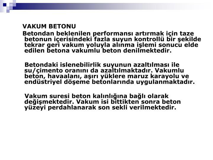 VAKUM BETONU