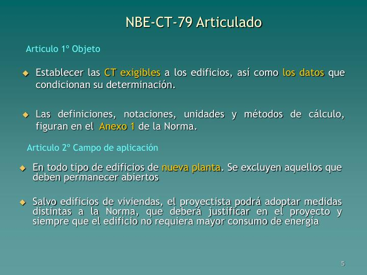 NBE-CT-79 Articulado