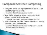 compound sentence composing