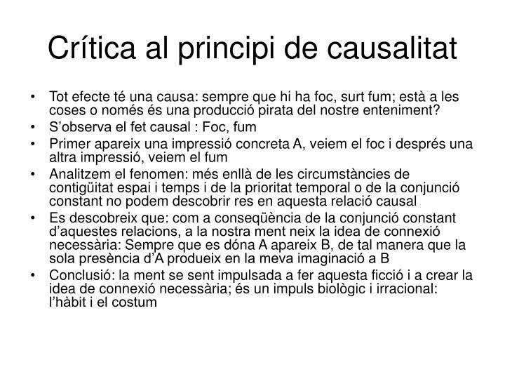 Crítica al principi de causalitat