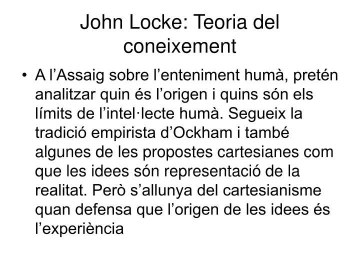 John Locke: Teoria del coneixement