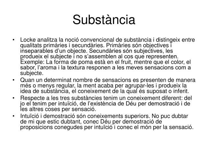 Substància