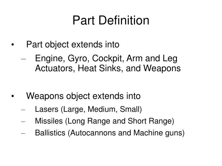 Part Definition