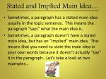 stated and implied main idea