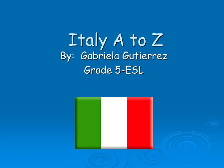 italy a to z n.