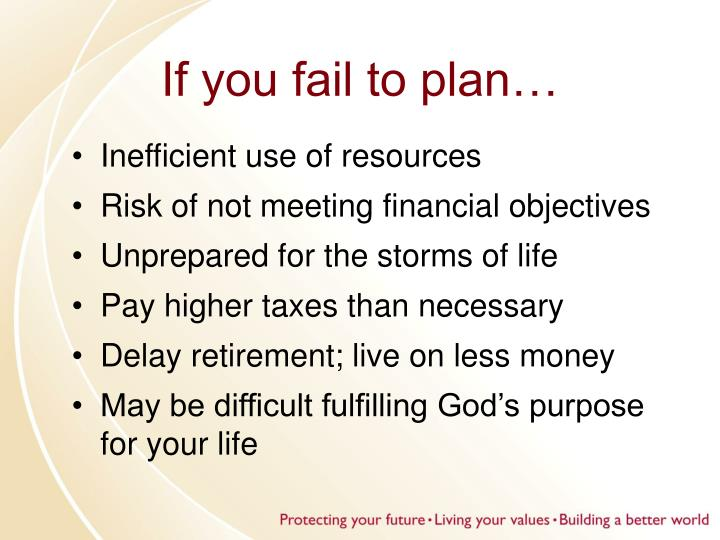If you fail to plan…