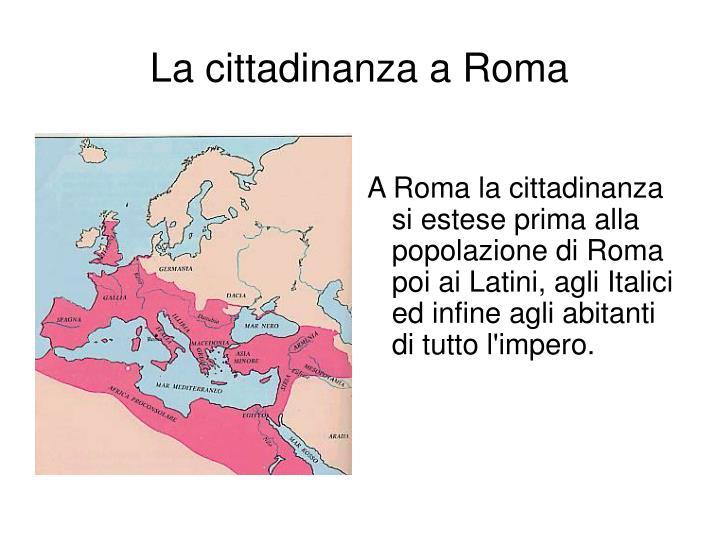 La cittadinanza a Roma