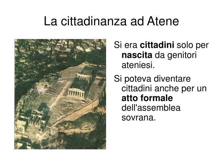 La cittadinanza ad Atene