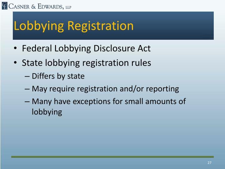 Lobbying Registration