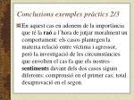 conclusions exemples pr ctics 2 3