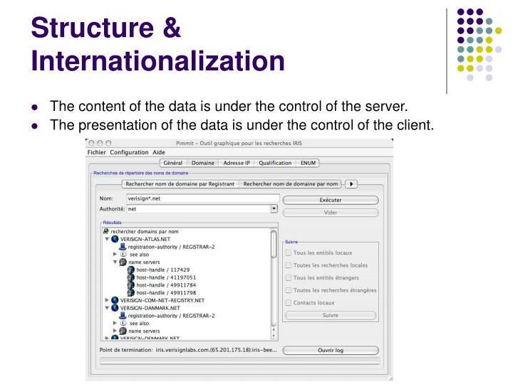 Structure & Internationalization