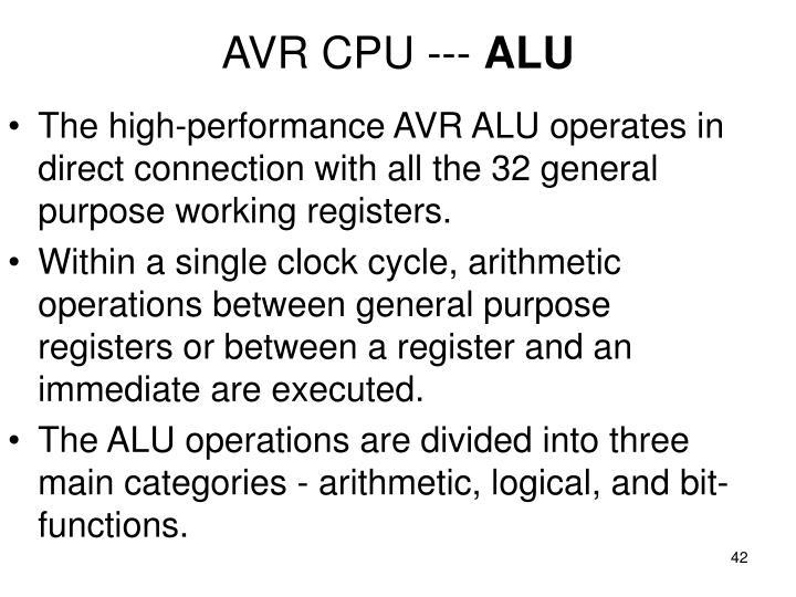 AVR CPU ---