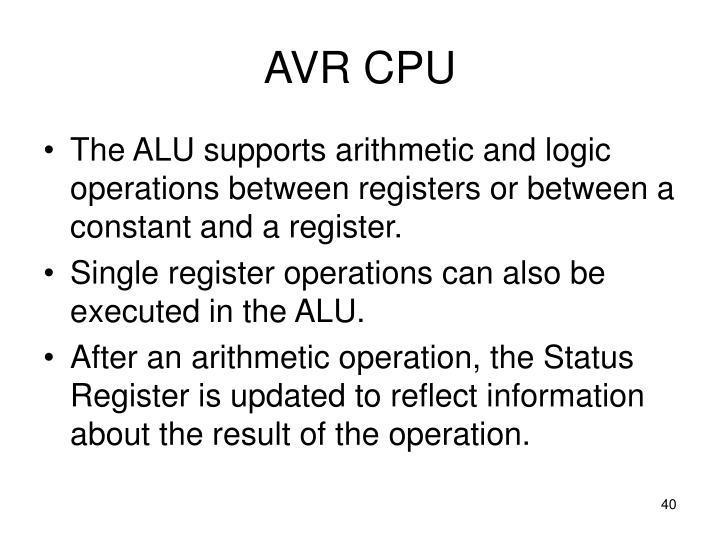 AVR CPU