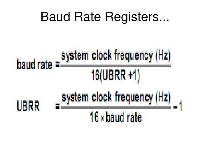 Baud Rate Registers...