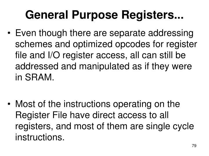 General Purpose Registers...