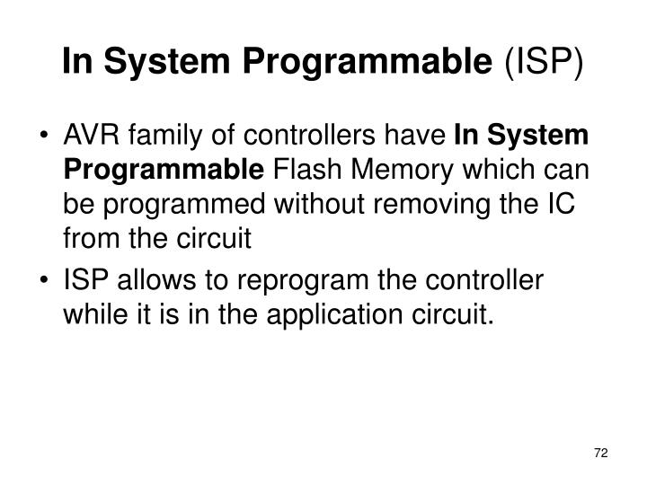 In System Programmable