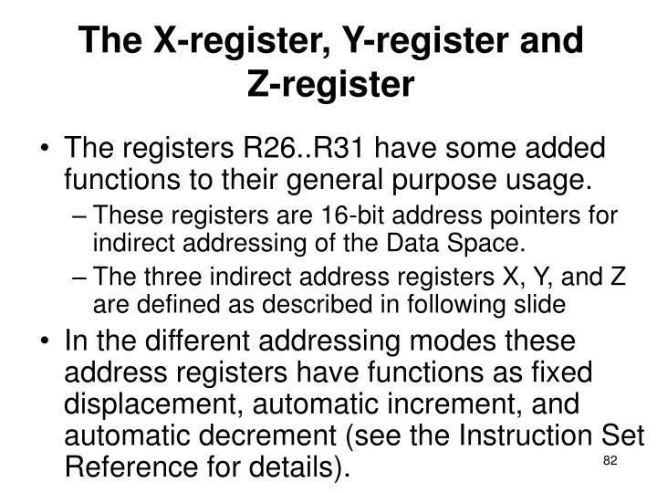 The X-register, Y-register and Z-register