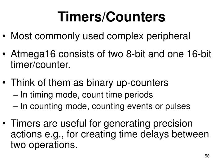 Timers/Counters