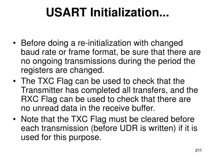 USART Initialization...