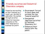 friendly societies and industrial insurance company