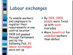labour exchanges
