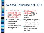 national insurance act 1911