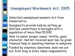 unemployed workmen s act 1905