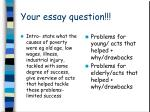 your essay question
