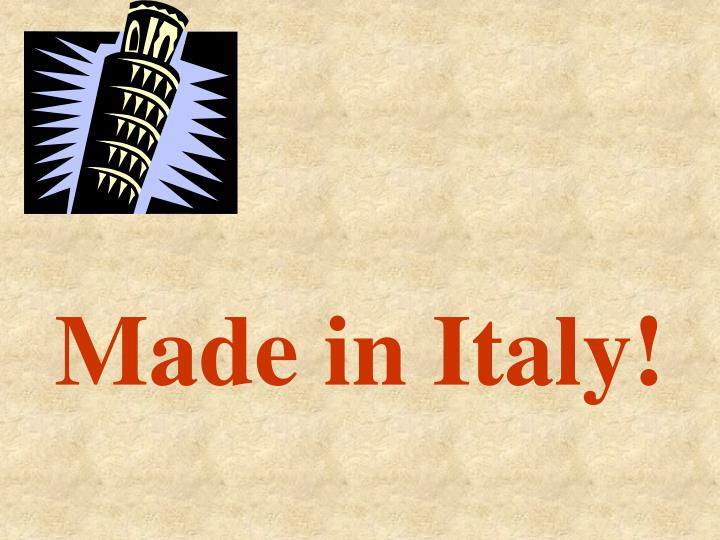 made in italy n.