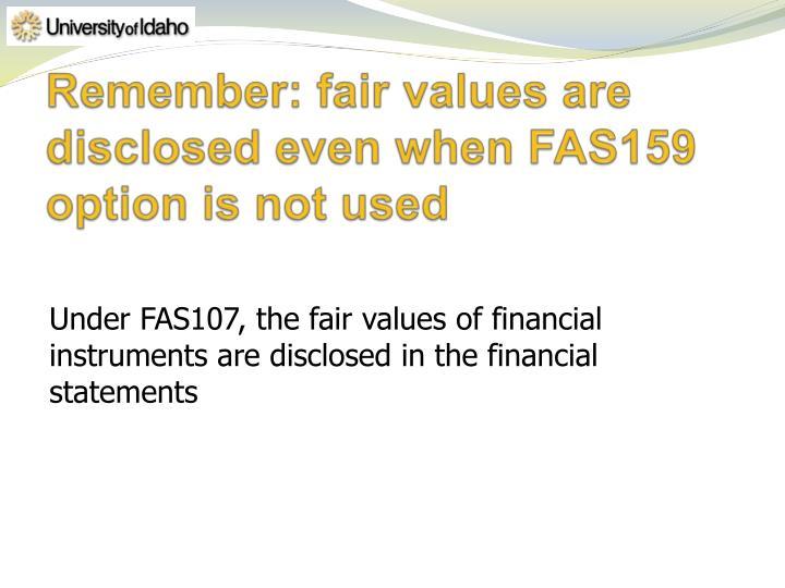 Remember: fair