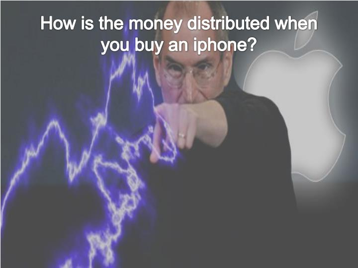How is the money distributed when you buy an