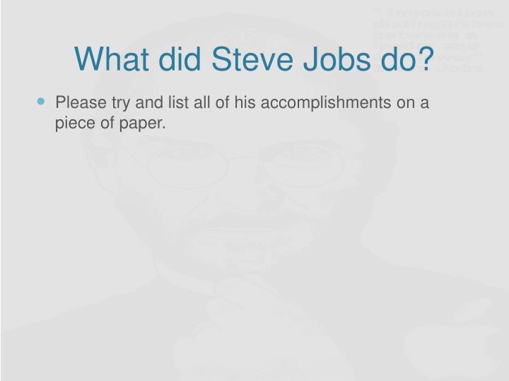What did steve jobs do