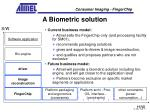 a biometric solution