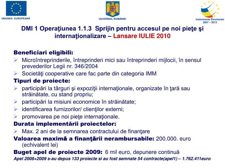 DMI 1 Operaţiunea 1.1.3