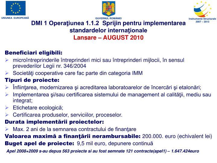 DMI 1 Operaţiunea 1.1.2