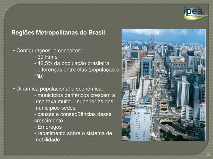 Regiões Metropolitanas do Brasil