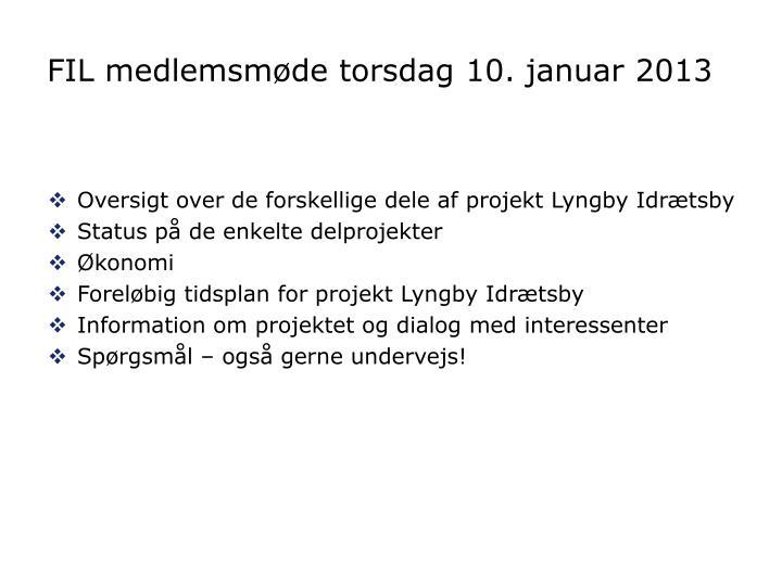 Fil medlemsm de torsdag 10 januar 2013