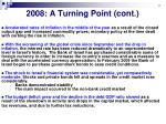 2008 a turning point cont