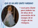 que es un a o santo mariano